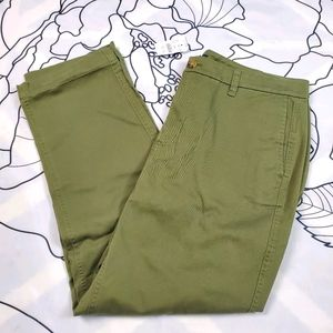 NWT J. CREW Olive Green Pants Trousers size 12